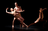 Mariya Dashkina Maddux, Ben Schultz and Tadej Brdnik of the Martha Graham Dance Company