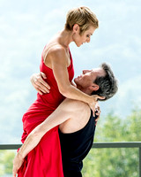 "Don Halquist and Leanne Rinelli of the Bill Evans Dance Company in ""Dos Tangos""."
